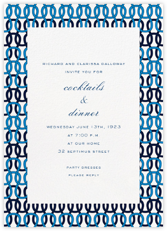 Crochet - Blue - Paperless Post - Reception invitations