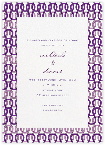 Crochet - Purple - Paperless Post - Business event invitations