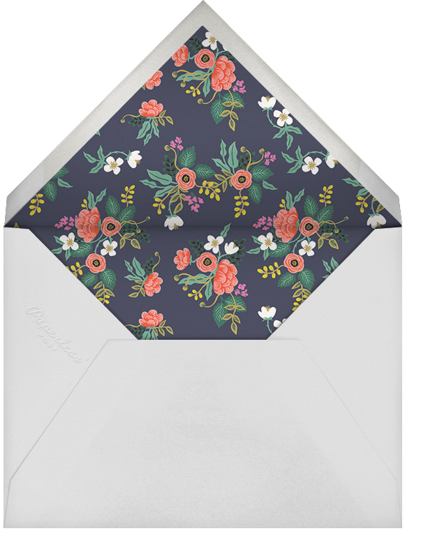 Birch Monarch (Horizontal Photo) - Red - Rifle Paper Co. - Holiday cards - envelope back