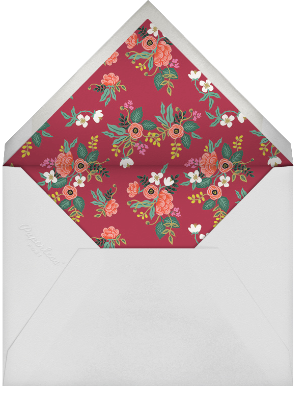 Birch Monarch (Horizontal Photo) - Blue - Rifle Paper Co. - Holiday cards - envelope back