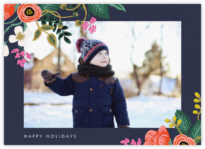 Birch Monarch (Horizontal Photo) - Blue - Rifle Paper Co. - Holiday Cards
