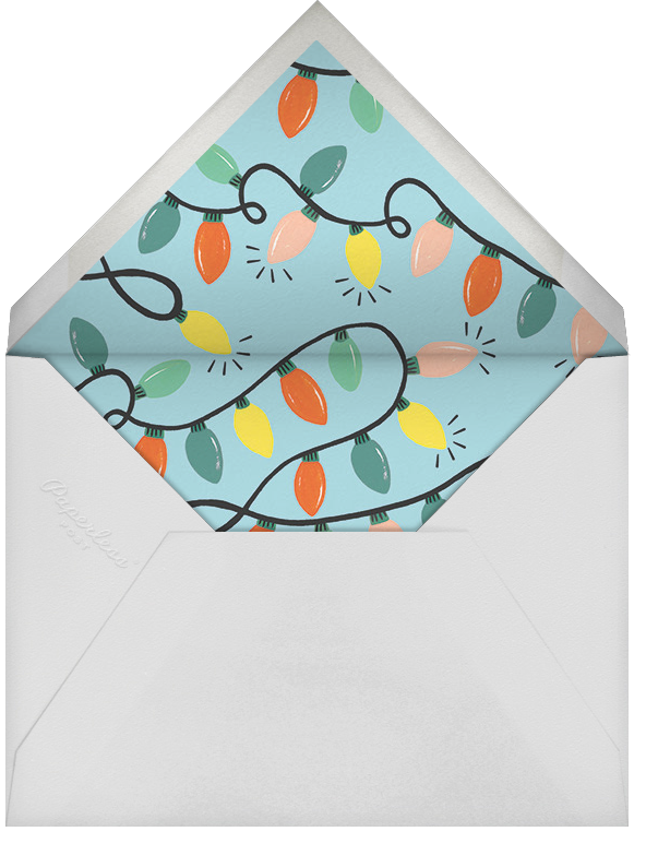 Glow Strings Attached (Horizontal Photo) - Rifle Paper Co. - Holiday cards - envelope back