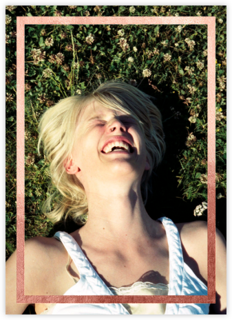 Editorial II (Photo Invitation) - White/Rose Gold - Paperless Post - Bridal shower invitations