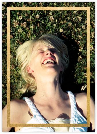 Editorial II (Photo Invitation) - Meringue/Gold - Paperless Post - Bridal shower invitations