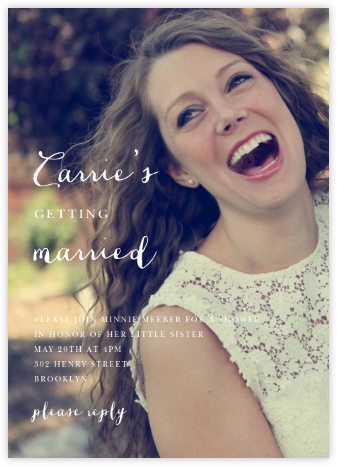 Pilier (Invitation) - Spring Rain - Paperless Post - Bridal shower invitations