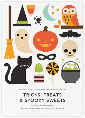 Halloween Parade - Petit Collage - Online Party Invitations