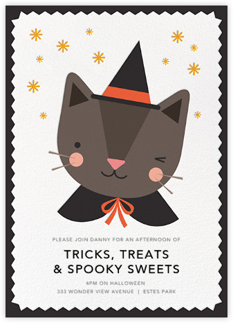 Paws and Potions - Petit Collage - Halloween invitations