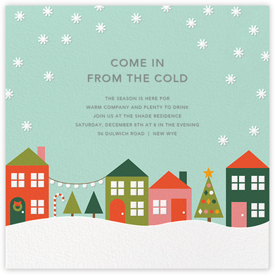 Snowville (Invitation) - Petit Collage - Winter Party Invitations