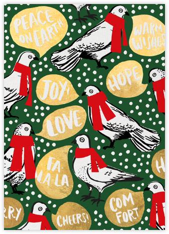 Doves Say Hey - Hunter Green - Hello!Lucky - Hello!Lucky Cards