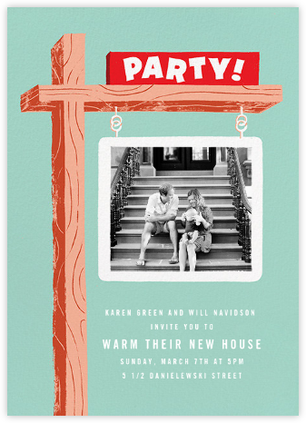 Party Property (Photo) - Paperless Post - Housewarming party invitations