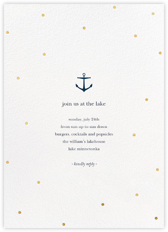 Nautical Dots - Gold - Sugar Paper - General Entertaining Invitations