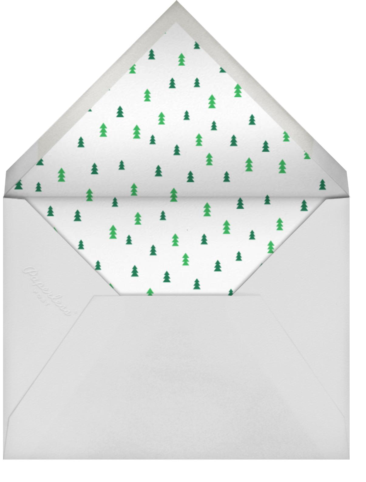Winter Flakes (Horizontal) - The Indigo Bunting - Holiday cards - envelope back