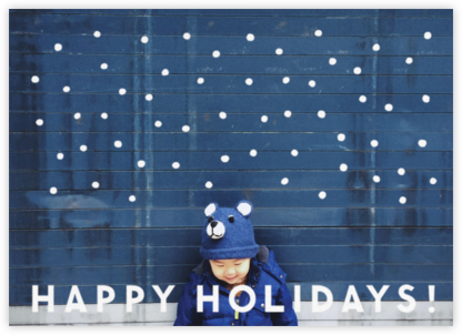 Winter Flakes (Horizontal) - The Indigo Bunting - Holiday photo cards