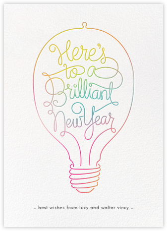 Brilliant New Year - Paperless Post - New Year Cards