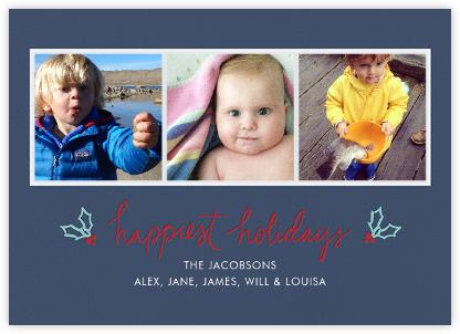 Holiday Holly (Multi-Photo) - Blue - Linda and Harriett -