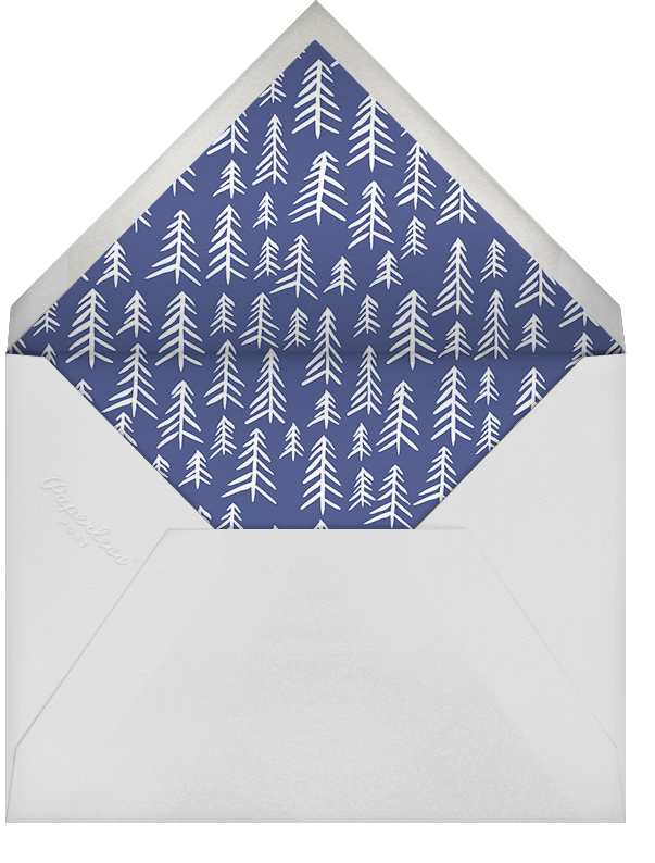 Silhouette Snowflakes (Tall) - Linda and Harriett - Holiday cards - envelope back