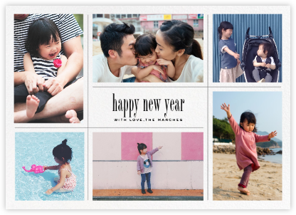 Big Picture New Year (Six-Photo Horizontal) - Paperless Post -