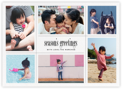 Big Picture Season (Six-Photo Horizontal) - Paperless Post - Holiday cards
