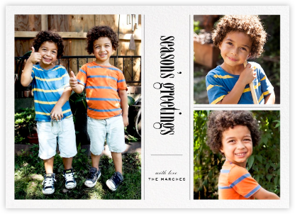 Big Picture Season (Three-Photo) - Paperless Post - Holiday Cards