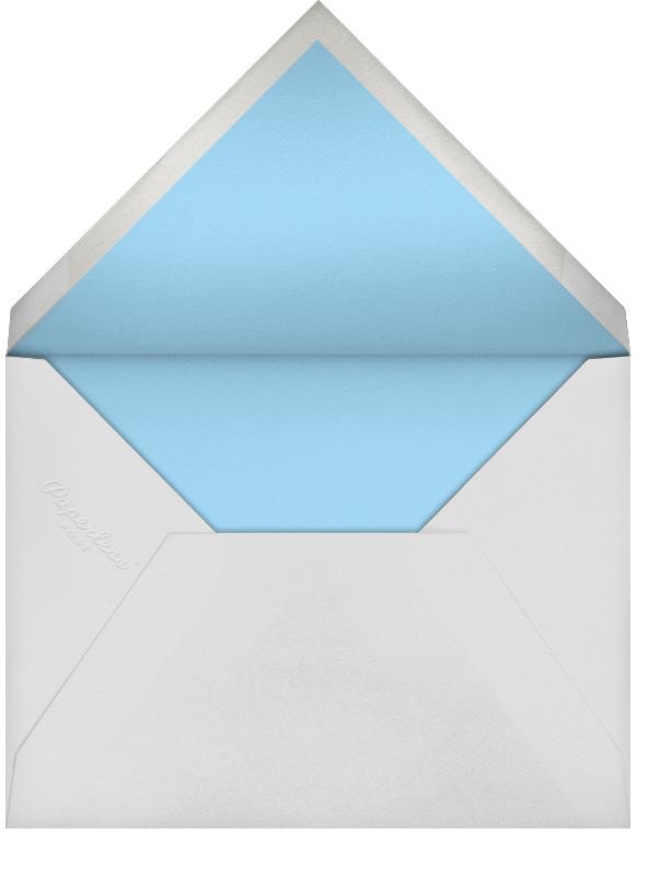 Whitework Love - Light Blue/Silver - Paperless Post - Holiday cards - envelope back