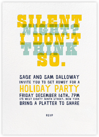 Silent Night - Crate & Barrel - Holiday invitations