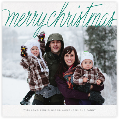 Handwritten Christmas (Square) - Paperless Post - Photo Christmas cards