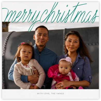 Handwritten Christmas (Square) - Paperless Post - Christmas Cards