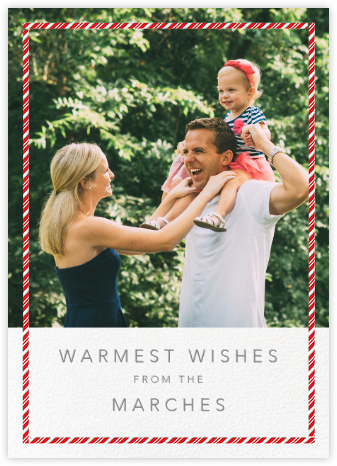 Candy Cane Frame (Tall) - Paperless Post - Holiday photo cards