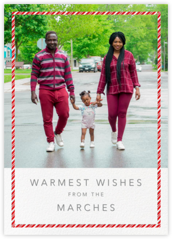 Candy Cane Frame (Tall) - Paperless Post - Holiday Cards