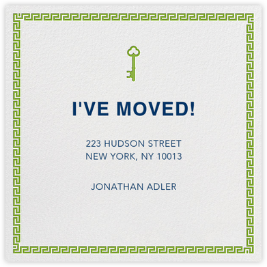 Golden Key - Green - Jonathan Adler - Announcements