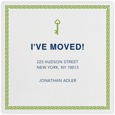 20 Personalised Moving House New Home Change of Address Cards 2 designs