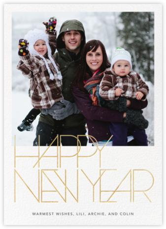 Avant-Garde New Year (Tall) - Paperless Post -