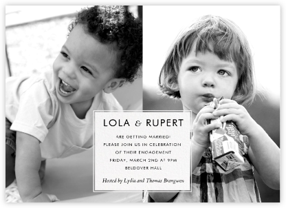 Two of a Kind - Paperless Post - Engagement party invitations