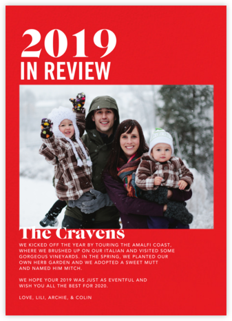 In Review - Red - Paperless Post - Holiday cards
