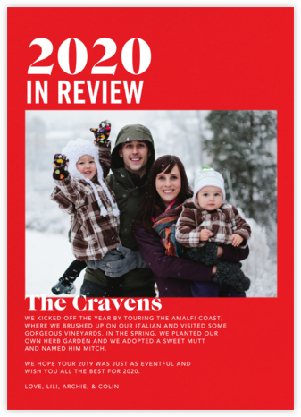 In Review - Red - Paperless Post -