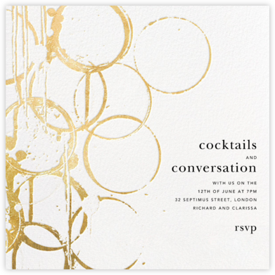 Bottle Shock - Gold - Kelly Wearstler - Happy hour invitations