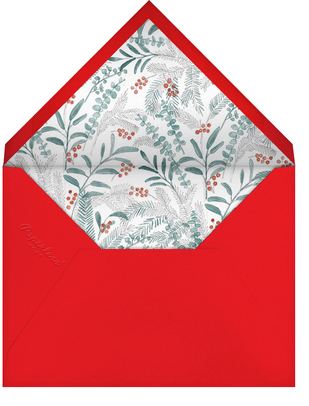 Mistletoe Signet (Multi-Photo) - Red - Paperless Post - Holiday cards - envelope back