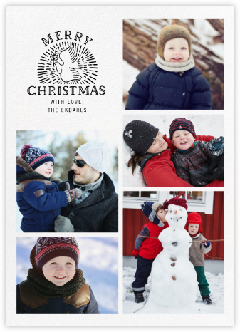 Columba - White - Paperless Post - Photo Christmas cards