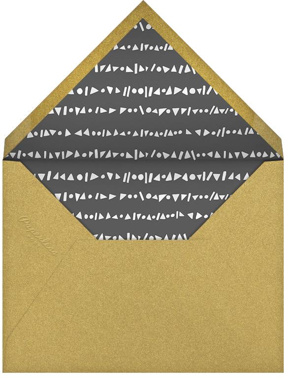 Streamer Shapes (Tall) - White/Gold - Paperless Post - Adult birthday - envelope back
