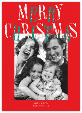 Jaunty Christmas (Tall) - Red - Paperless Post -