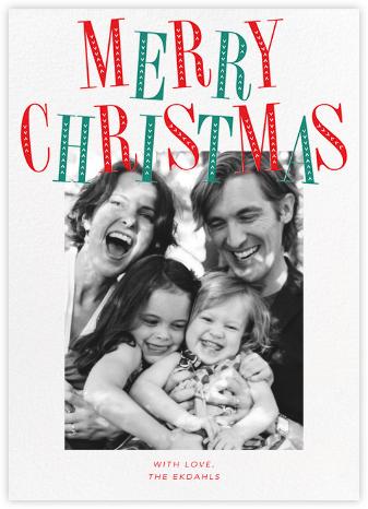 Jaunty Christmas (Tall) - White - Paperless Post -