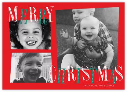 Jaunty Christmas (Multi-Photo) - Red - Paperless Post -