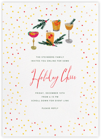 An Old Fashioned Night - Mr. Boddington's Studio - Winter Party Invitations