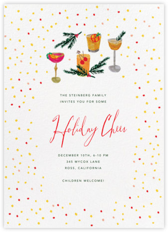 An Old Fashioned Night - Mr. Boddington's Studio - Holiday party invitations