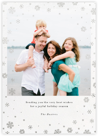 Snowfall - Silver - Paperless Post - Holiday cards