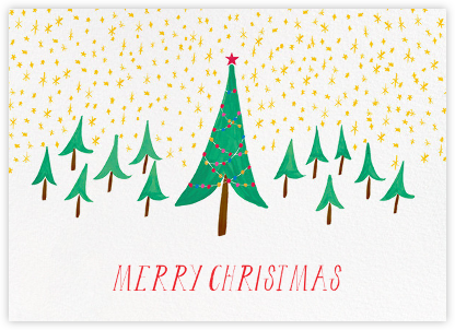Glittery Tree in the Christmas Forest (Greeting) - Mr. Boddington's Studio -