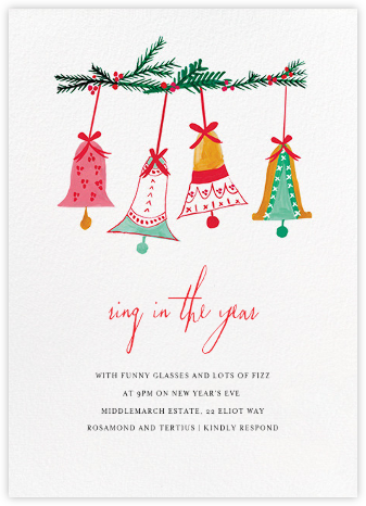 With Bells On (Invitation) - Mr. Boddington's Studio - New Year's Eve Invitations