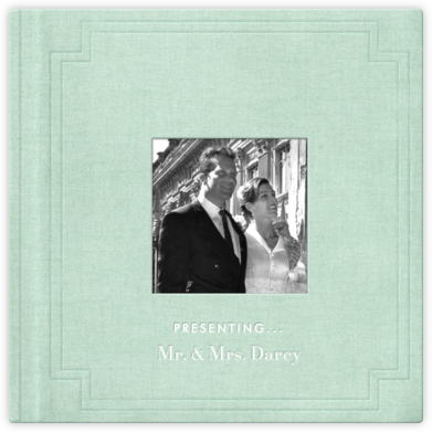 Magazine Photo Cover Album (Mint) - Square - Paperless Post - Wedding Announcements