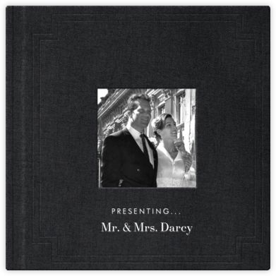 Magazine Photo Cover Album (Black) - Square - Paperless Post - Wedding Announcements