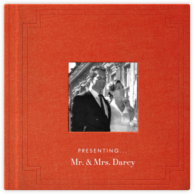 Magazine Photo Cover Album (Blood Orange) - Square - Paperless Post - Wedding Announcements
